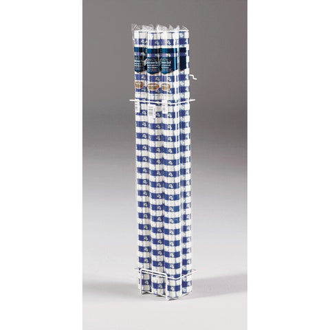 Blue Gingham 100 ft Plastic Banquet Table Roll/Case of 6