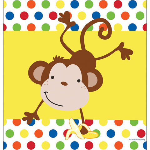 48 x 88 Plastic Tablecover Fun Monkey/Case of 12