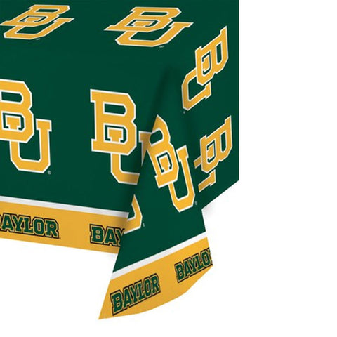 Collegiate 54 x 108 Plastic Tablecover Baylor University/Case of 12