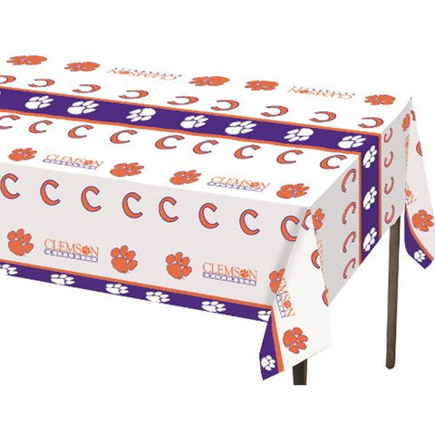 Clemson Univ 54 x 108 Plastic Tablecover/Case of 12