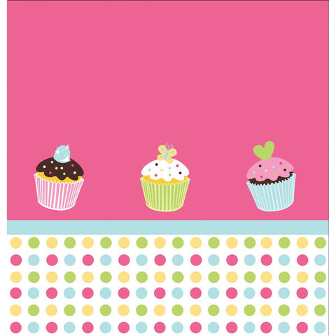 Sweet Treats 54 x 108 Plastic Tablecover Border Print/Case of 6