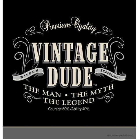 Vintage Dude 54 x 108 Plastic Tablecover Border Print/Case of 6
