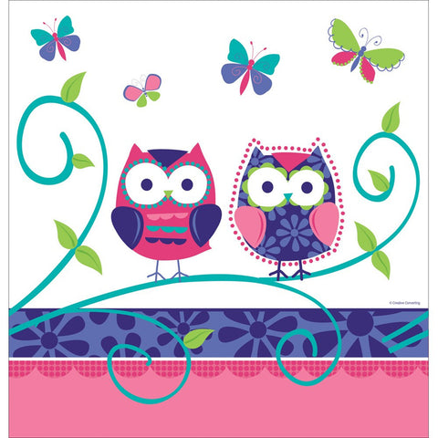 Owl Pal Birthday 54 x 108 Plastic Tablecover Border Print/Case of 6