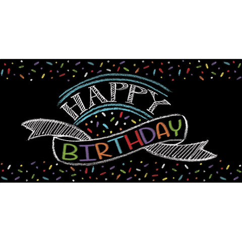 Chalk Birthday 54 x 102 Plastic Tablecover Border Print/Case of 6