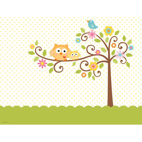 Happi Tree 54 x 108 Plastic Tablecover All Over Print/Case of 6