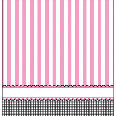 Sweet Baby Feet Pink 54 x 108 Plastic Tablecover Border Print/Case of 6