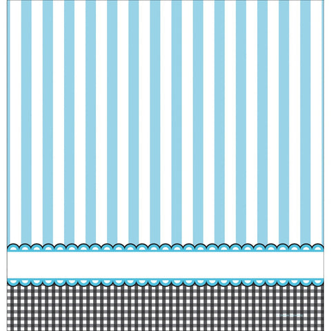 Sweet Baby Feet Blue 54 x 108 Plastic Tablecover Border Print/Case of 6