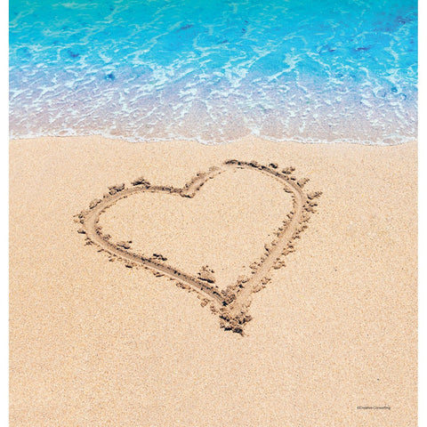 Beach Love 54 x 108 Plastic Tablecover Border Print/Case of 6
