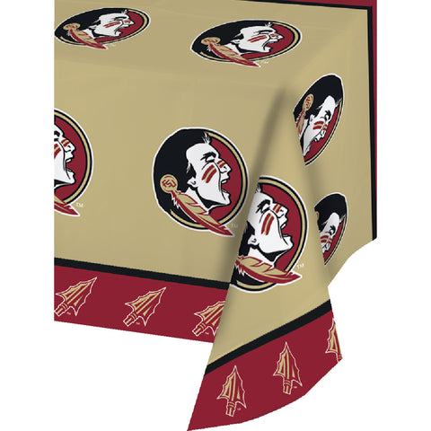 Florida State Univ All Over Print 54 x 108 Inch Plastic Tablecover/Case of 12