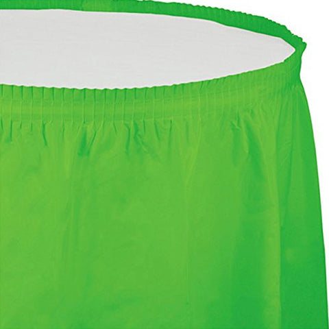 14 ft Plastic Tableskirt Fresh Lime/Case of 6