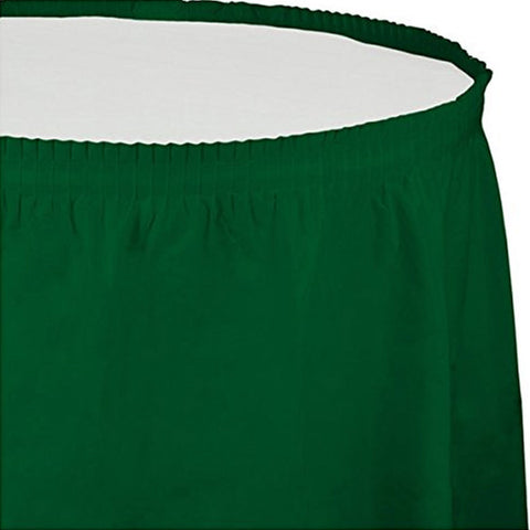14 ft Plastic Tableskirt Hunter Green/Case of 6
