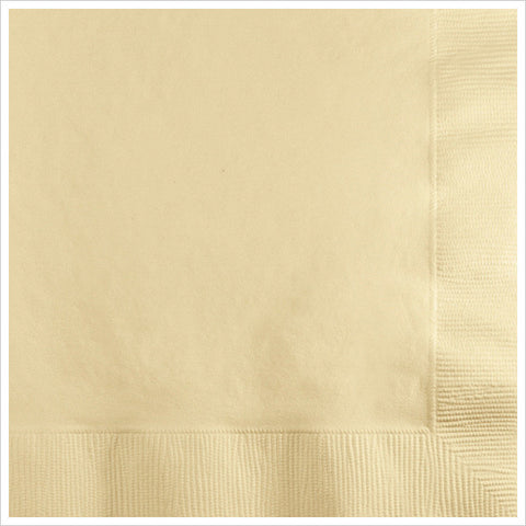 2 Ply Beverage Napkins Ivory/Case of 600