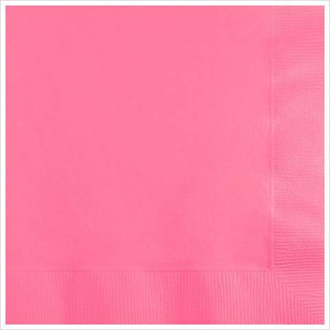 2 Ply Beverage Napkins Candy Pink/Case of 600