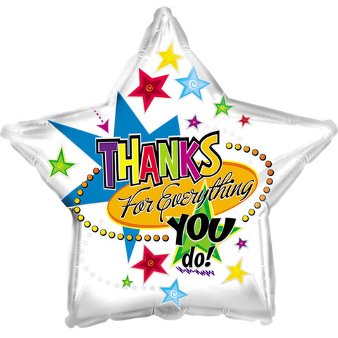 "17"" Thanks for Everything Foil Balloon/Case of 5"