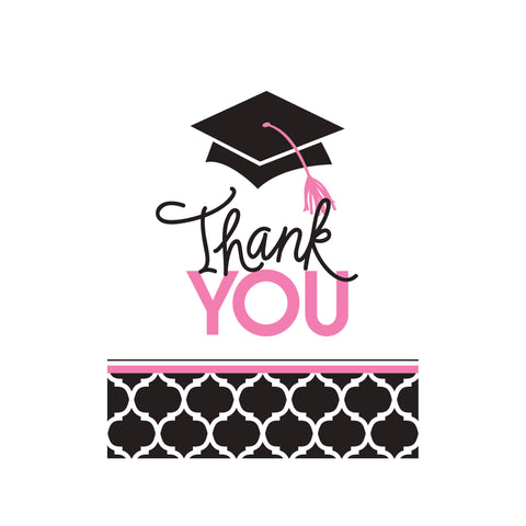 5 x 4 Inch Foldover Glamorous Grad Thank You/Case of 75