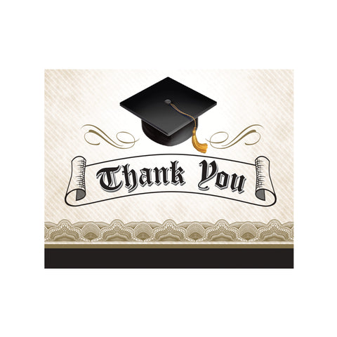 Cap & Gown 5 x 4 Foldover Thank You/Case of 75