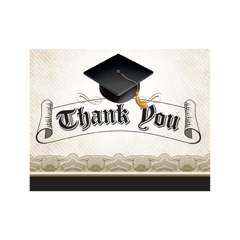 Cap & Gown 5 x 4 Foldover Thank You/Case of 48