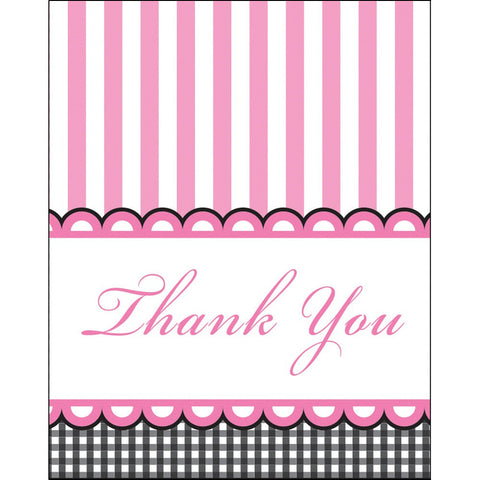Foldover Thank You Cards Sweet Baby Feet Pink/Case of 48