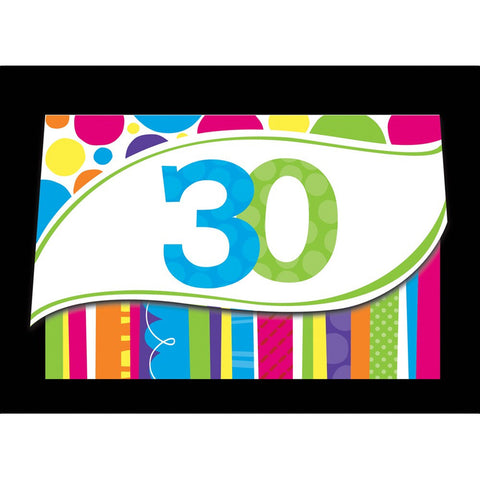 Bright And Bold Invitation 30th/Case of 48