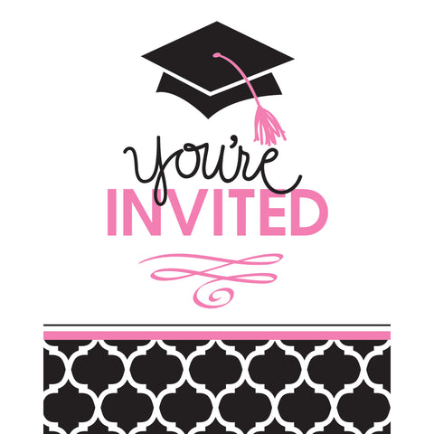 5 x 4 Inch Foldover Glamorous Grad Invitation/Case of 75