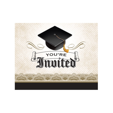 Cap & Gown 5 x 4 Foldover Invitation/Case of 75