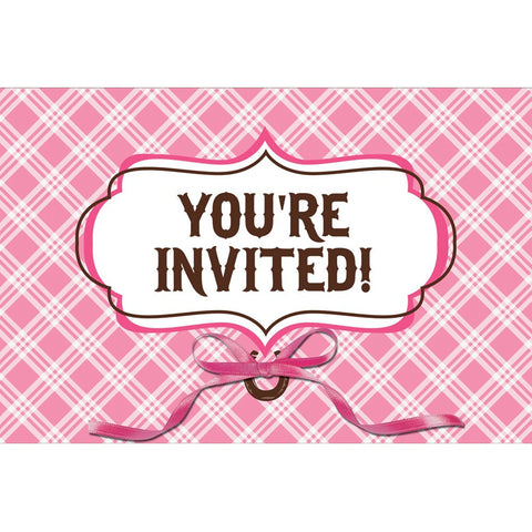 invitation Diecut Gatefold with Ribbon Heart My Horse/Case of 48