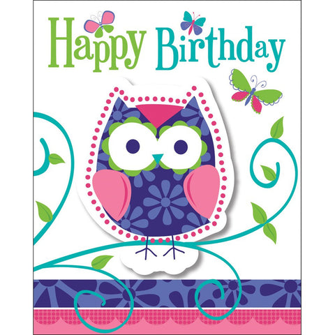 Owl Pal Birthday Invitation Foldover with Attachment/Case of 48