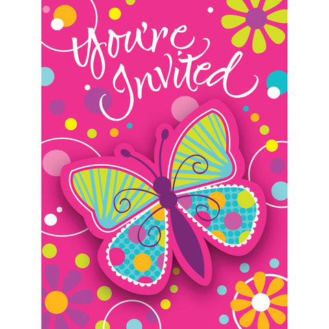 Butterfly Sparkle Invitation Postcard with Attachment/Case of 48