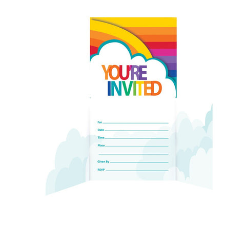 Rainbow Gatefold Invitation/Case of 48