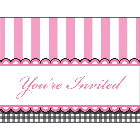 Sweet Baby Feet Pink Invitation Die Cut Horitzontal Gatefold/Case of 48