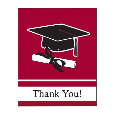 School Colors Burgundy Thank You Bulk/Case of 75