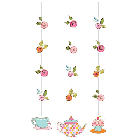 Tea Time 36 inch Hanging Cutouts/Case of 18