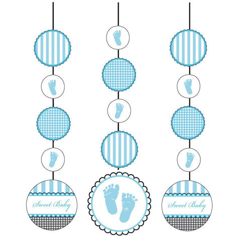 Hanging Cutouts Sweet Baby Feet Blue/Case of 18