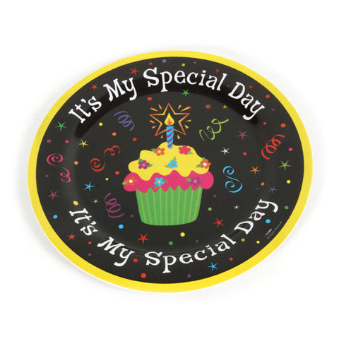 11 Inch  Inchtoday Is My Special Day Inch Melamine Plate Poly Bag/Case of 72
