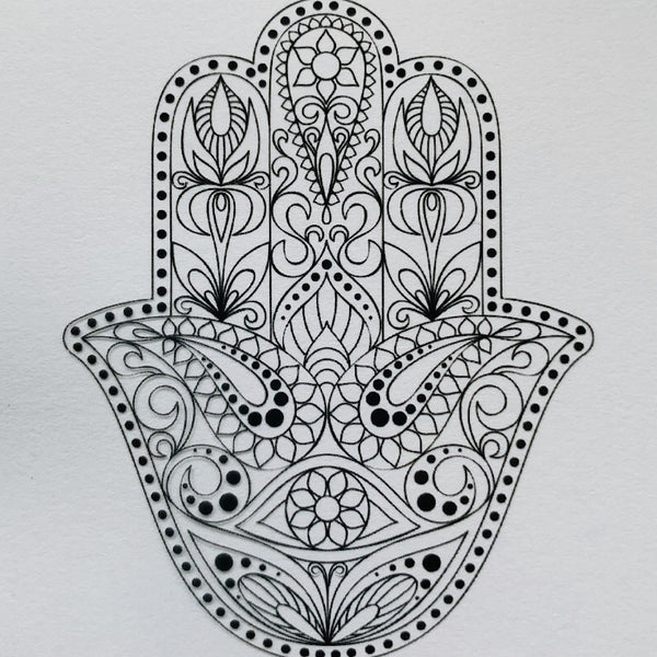 Totally New Transfers-Hamsa Hand