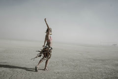 "Série Burning Man - ""Alone"" photographie d'Eric Bouvet"