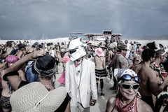"Série Burning Man - ""Casque blanc"" photographie d'Eric Bouvet"