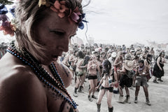 "Série Burning Man - ""Collier en perles"""