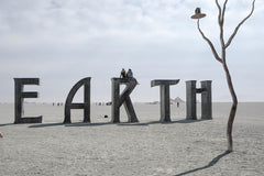 "Eric Bouvet photographie ""EARTH""- Série Burning man, Nevada 2012"