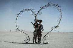 "Série Burning Man - ""Heart"" photographie d'Eric Bouvet"