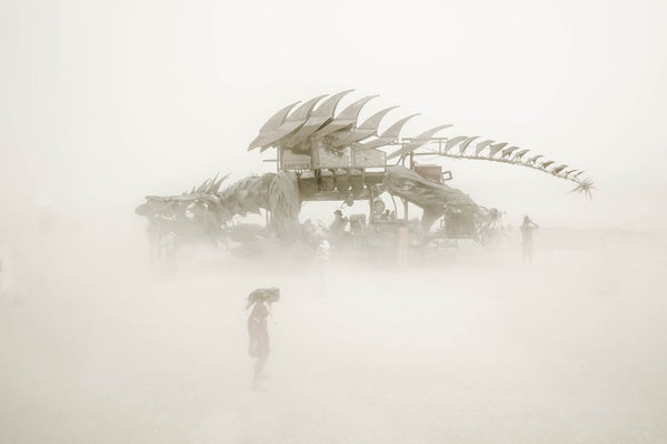 "Eric Bouvet photographie ""Dragon""- Série Burning man, Nevada 2012"