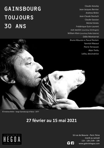 "Affiche Collector ""Gainsbourg Toujours 30 ans"""