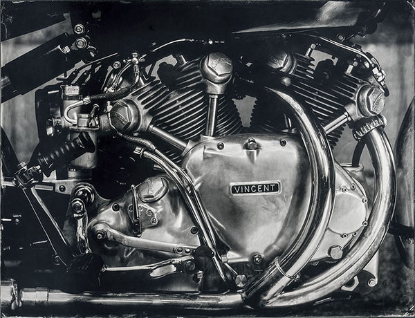 """Engine Vincent 1 000CC"" - Série ART OF RIDE - Photographie de Bernard Testemale"