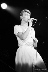 David Bowie - Pavillon de Paris- 1978 - PHOTOGRAPHIE DE CLAUDE AZOULAY