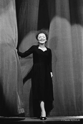 EDITH PIAF - OLYMPIA - 1961 - PHOTOGRAPHIE DE CLAUDE AZOULAY