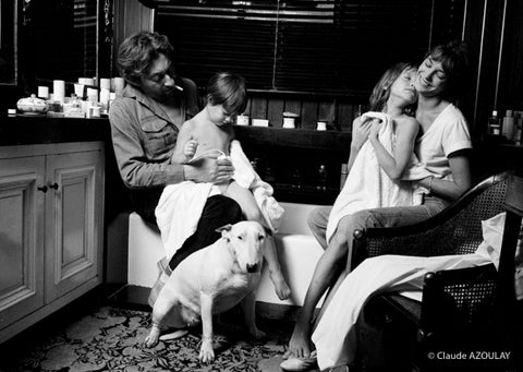 Serge Gainsbourg, Charlotte, Jane Birkin et Kate Barry - Photographie de Claude Azoulay