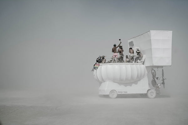 "Série Burning Man - ""White toilets"""
