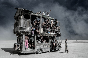 "Eric Bouvet photographie ""Madmax"" Burning Man, Nevada 2016"