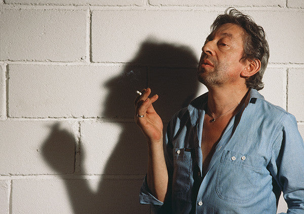 "Portrait de Gainsbourg ""Blue shirt smoker""  de Jean-Jacques Bernier"