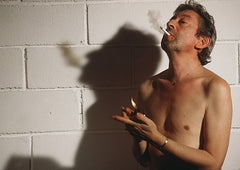 "Portrait de Serge Gainsbourg ""Bare-chested smoker #2""  de Jean-Jacques Bernier"